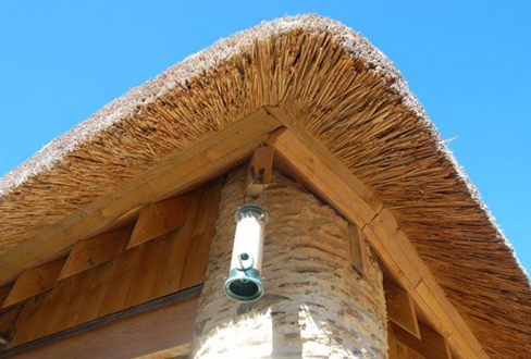 how to draw a thatched roof